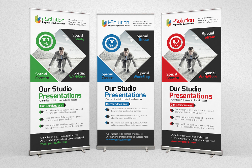 Business Motivation Roll Up Banners example image 1