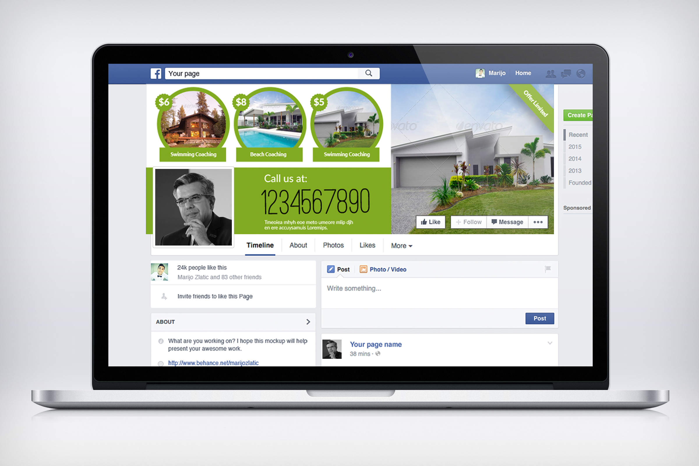 Real Estate Facebook Timeline Cover example image 3