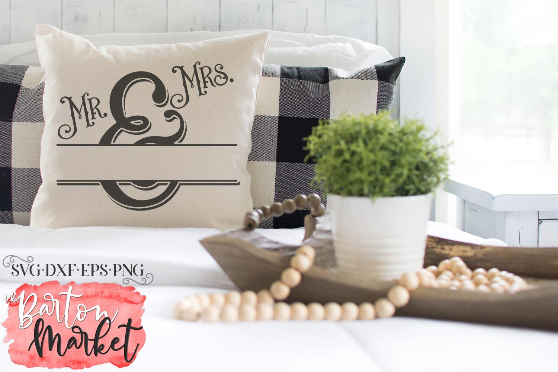 Mr & Mrs Monogram SVG DXF EPS PNG example image 3