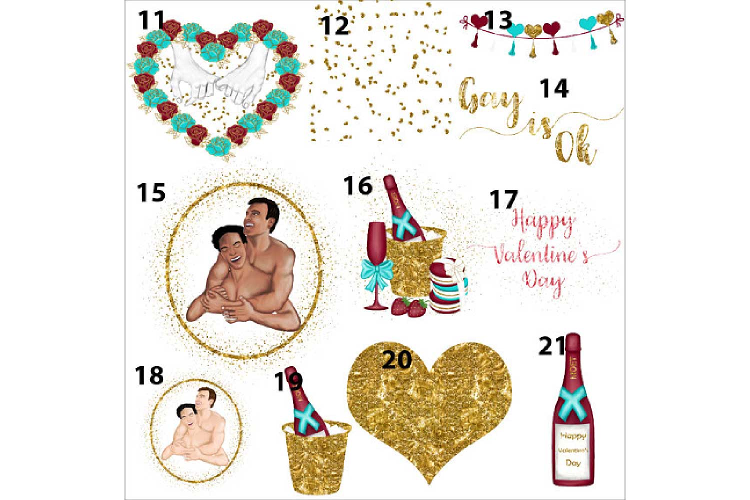 Gay Valentines Day clipart example image 4