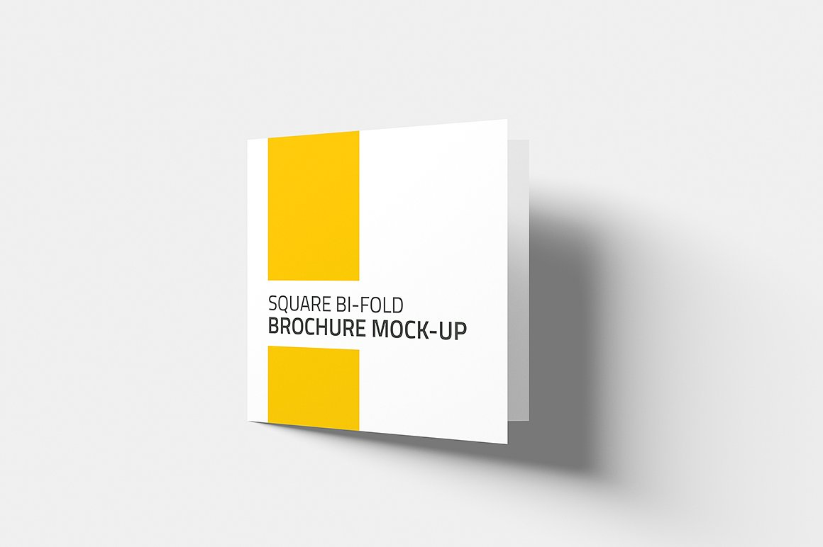 Square Bi-fold Brochure Mock-Up example image 2