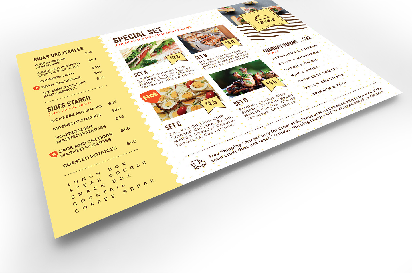 Catering Service Flyer Template v2 example image 4