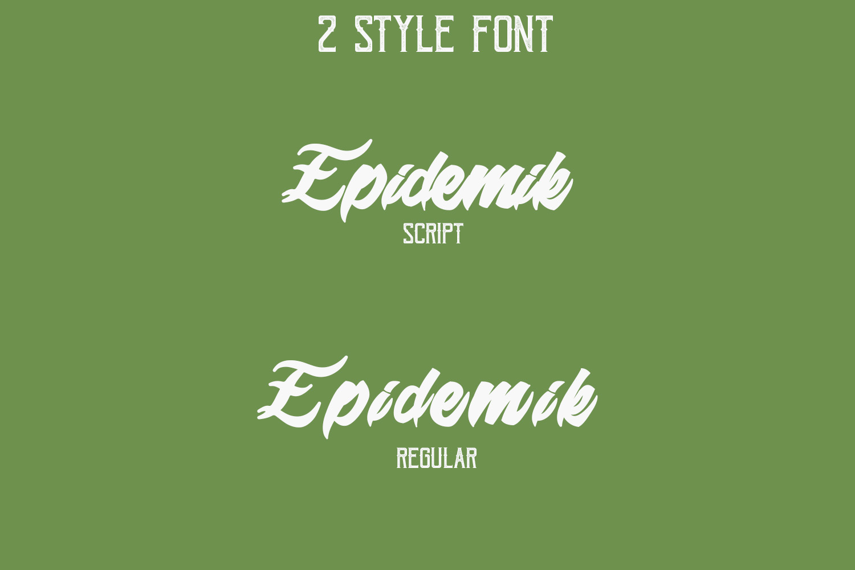 Epidemik Modern Font example image 4