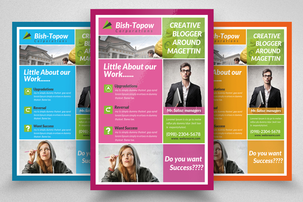 6 Creative Business Flyers Bundle example image 4
