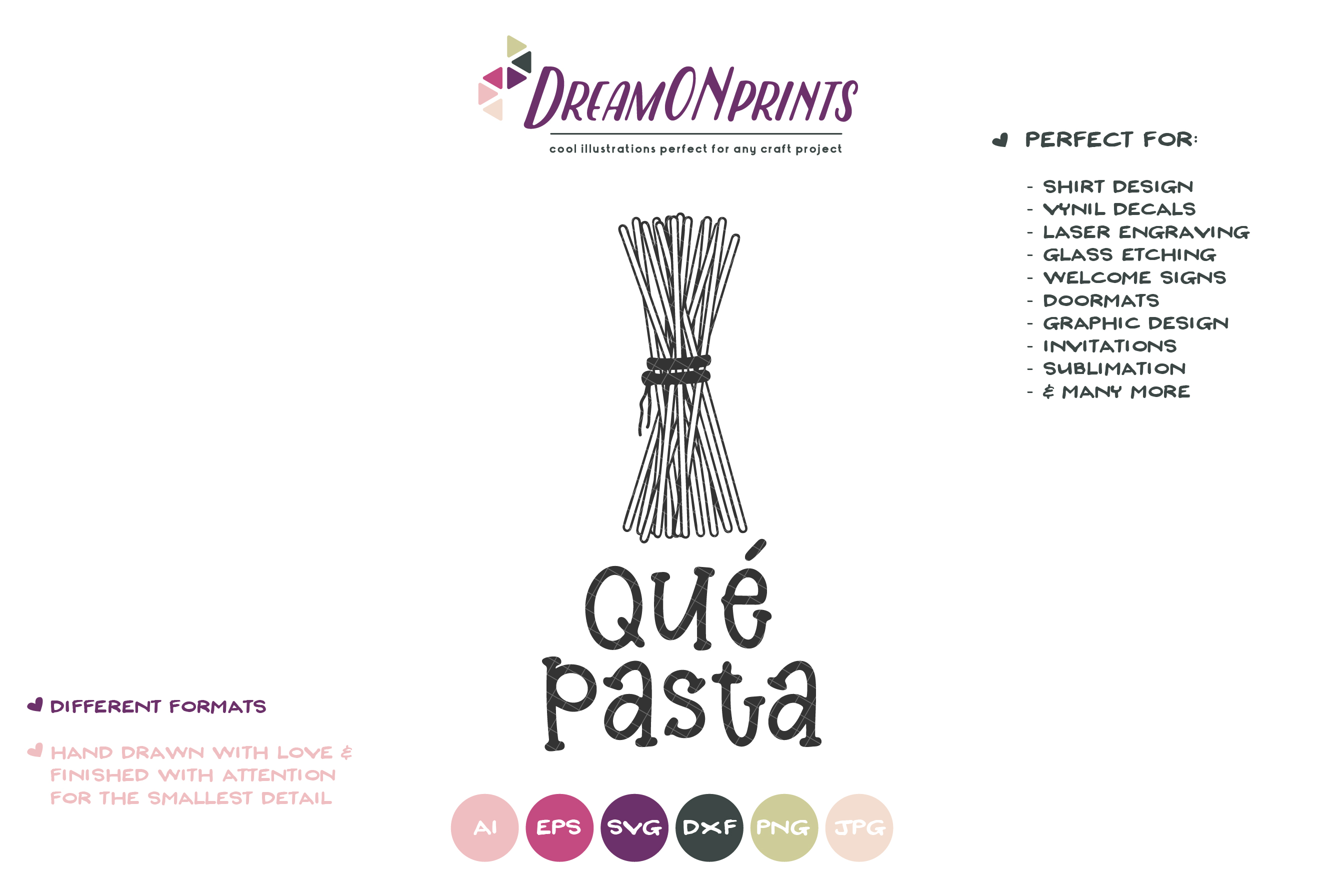 Que Pasta | Spaghetti Food Pun SVG | Funny Kitchen Sign SVG example image 2