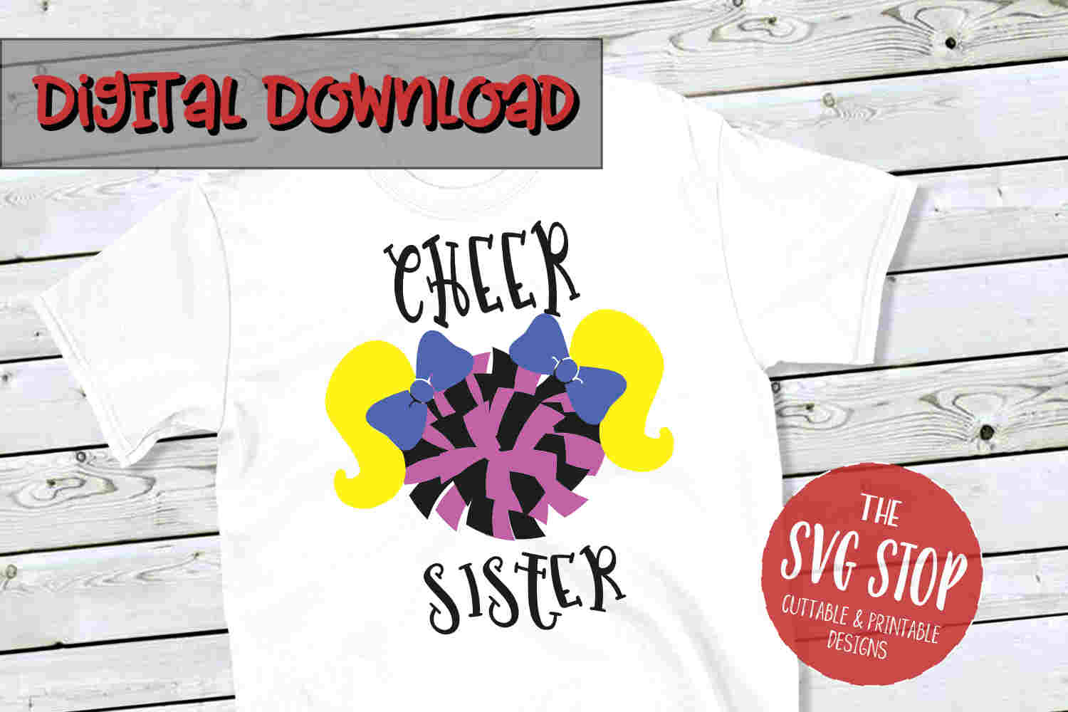 Cheer Sister 3 -SVG, PNG, DXF example image 1