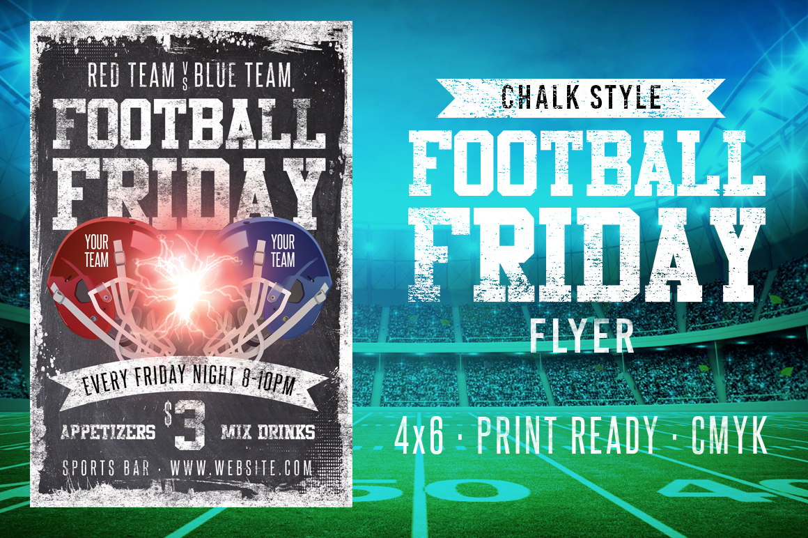 Chalk Football Friday Flyer example image 2