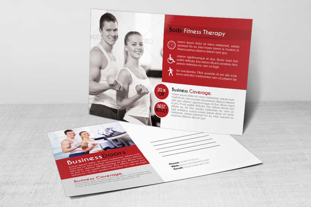 Body Fitness Club Postcard example image 3