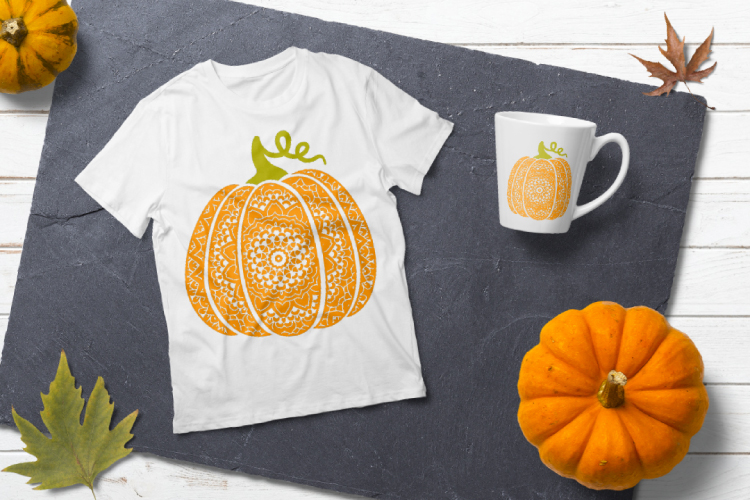 Fancy pumpkin svg. Scroll pumpkin example image 4