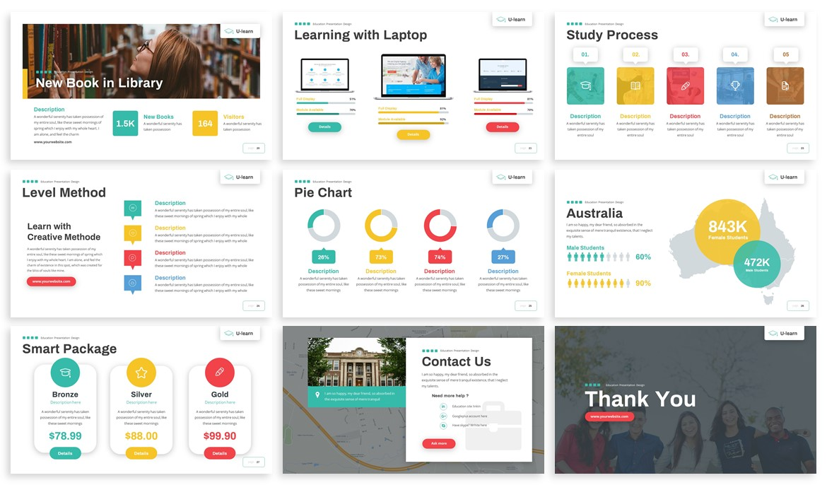 U-Learn - Education Powerpoint Template example image 4