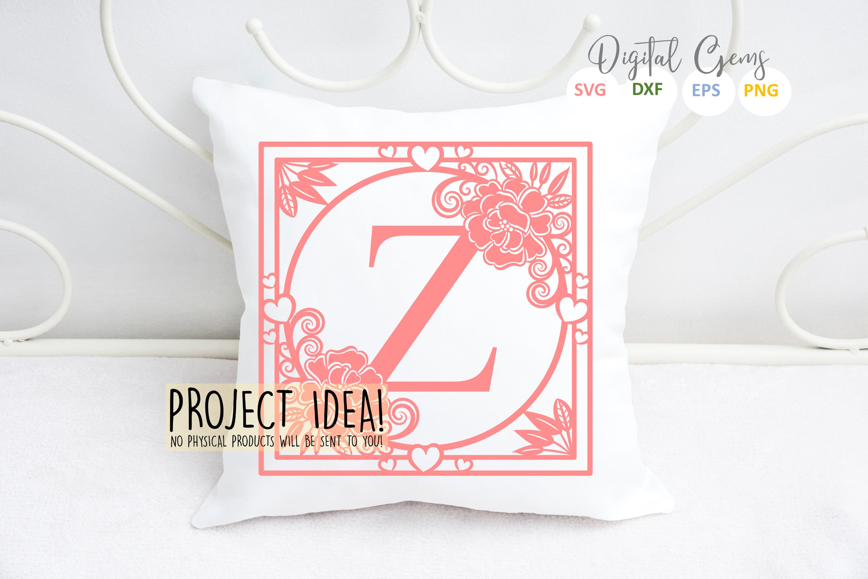 Letter Z papercut design. SVG / DXF / EPS files example image 2