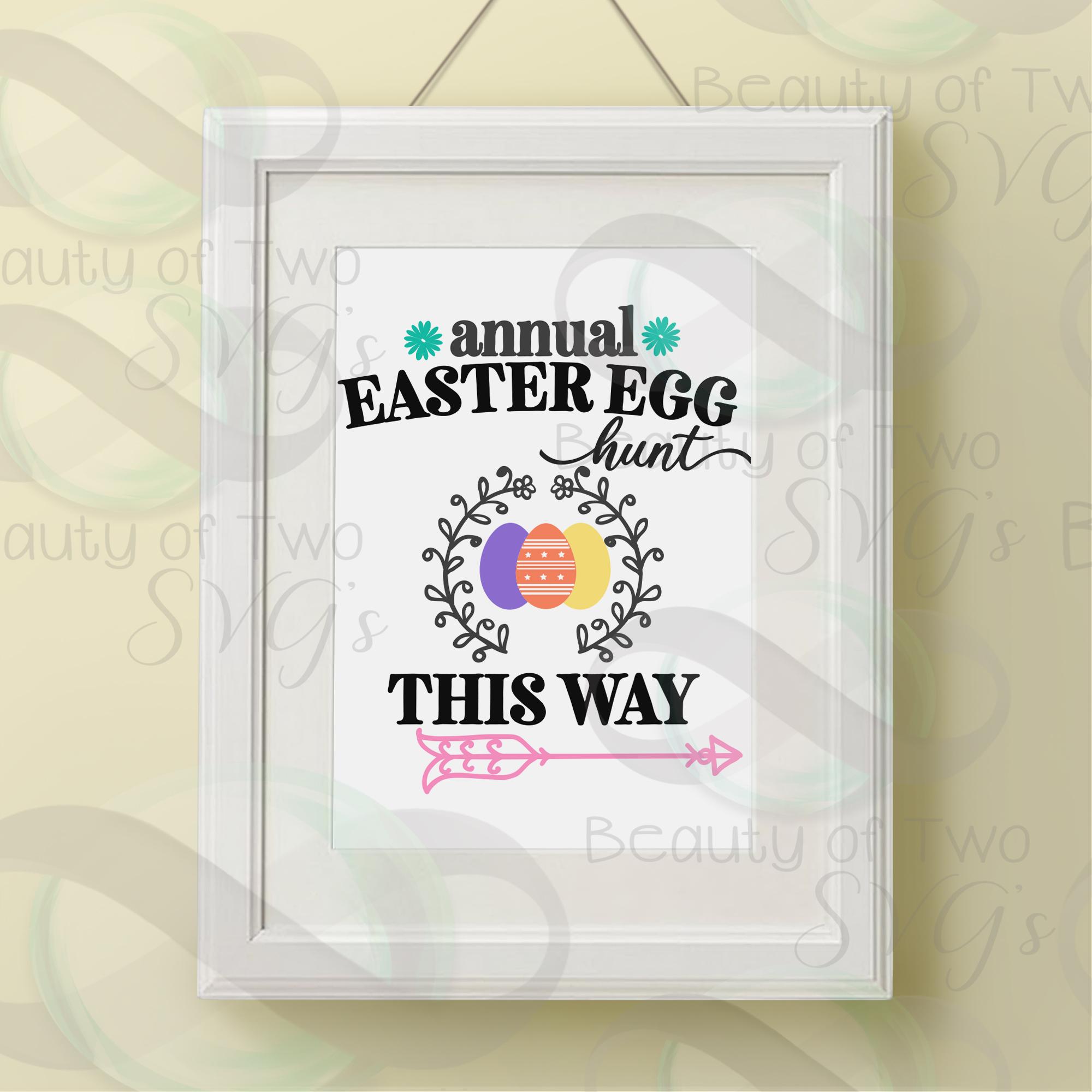 Easter Egg Hunt svg, Easter sign svg, Easter svg example image 3
