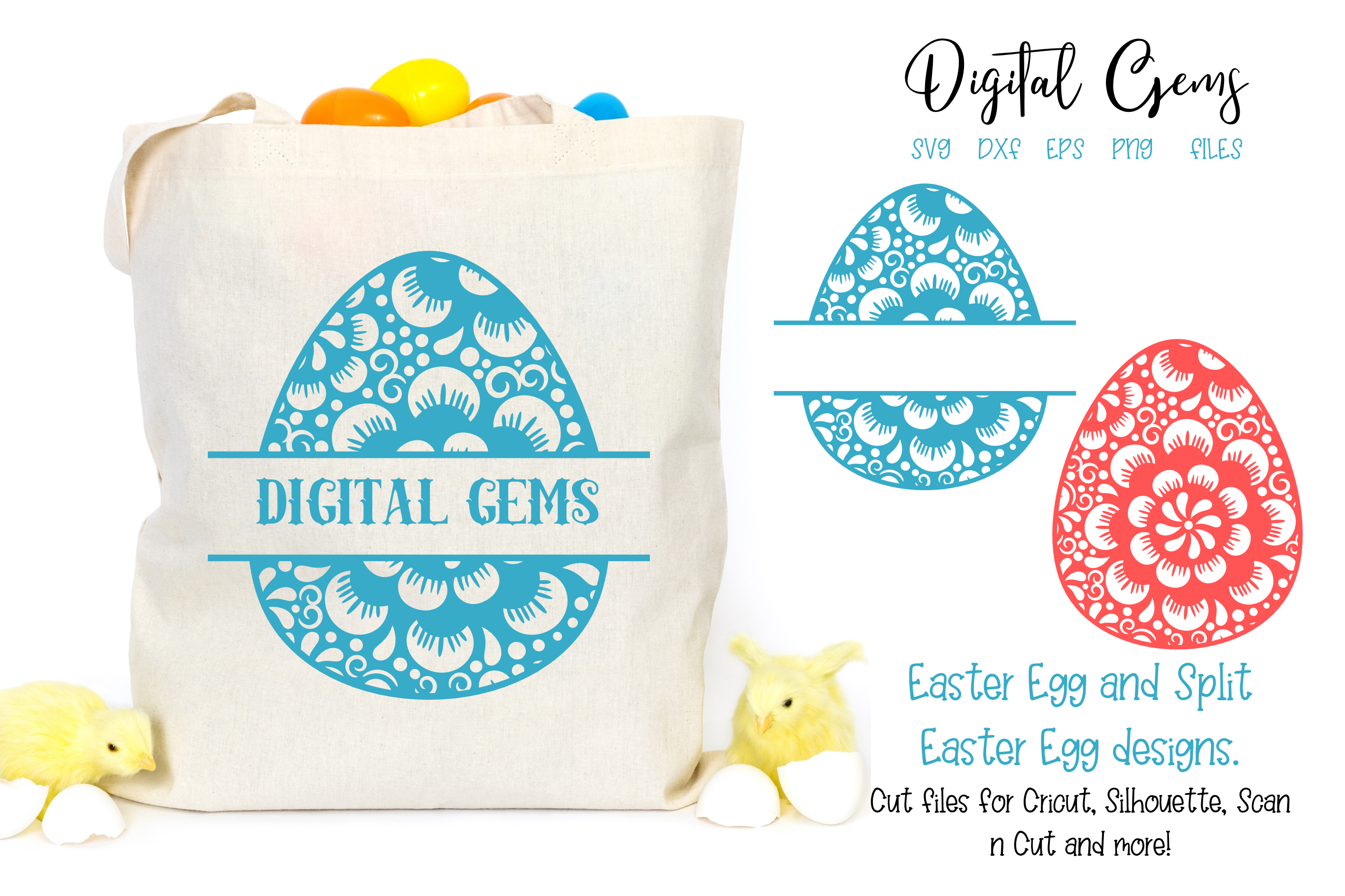 Easter egg SVG / DXF / EPS / PNG files example image 1