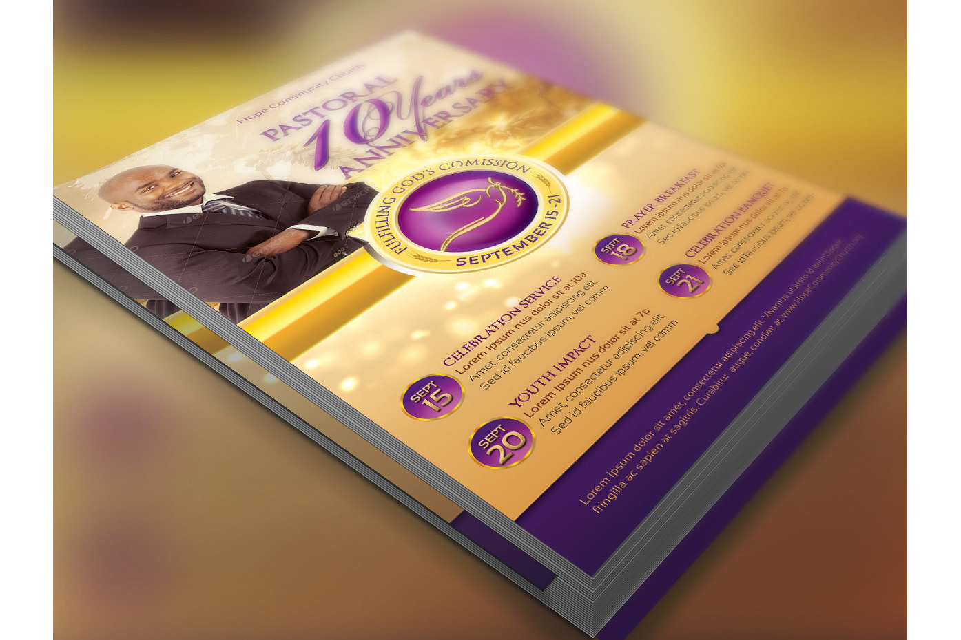 Clergy Anniversary Flyer Template example image 2