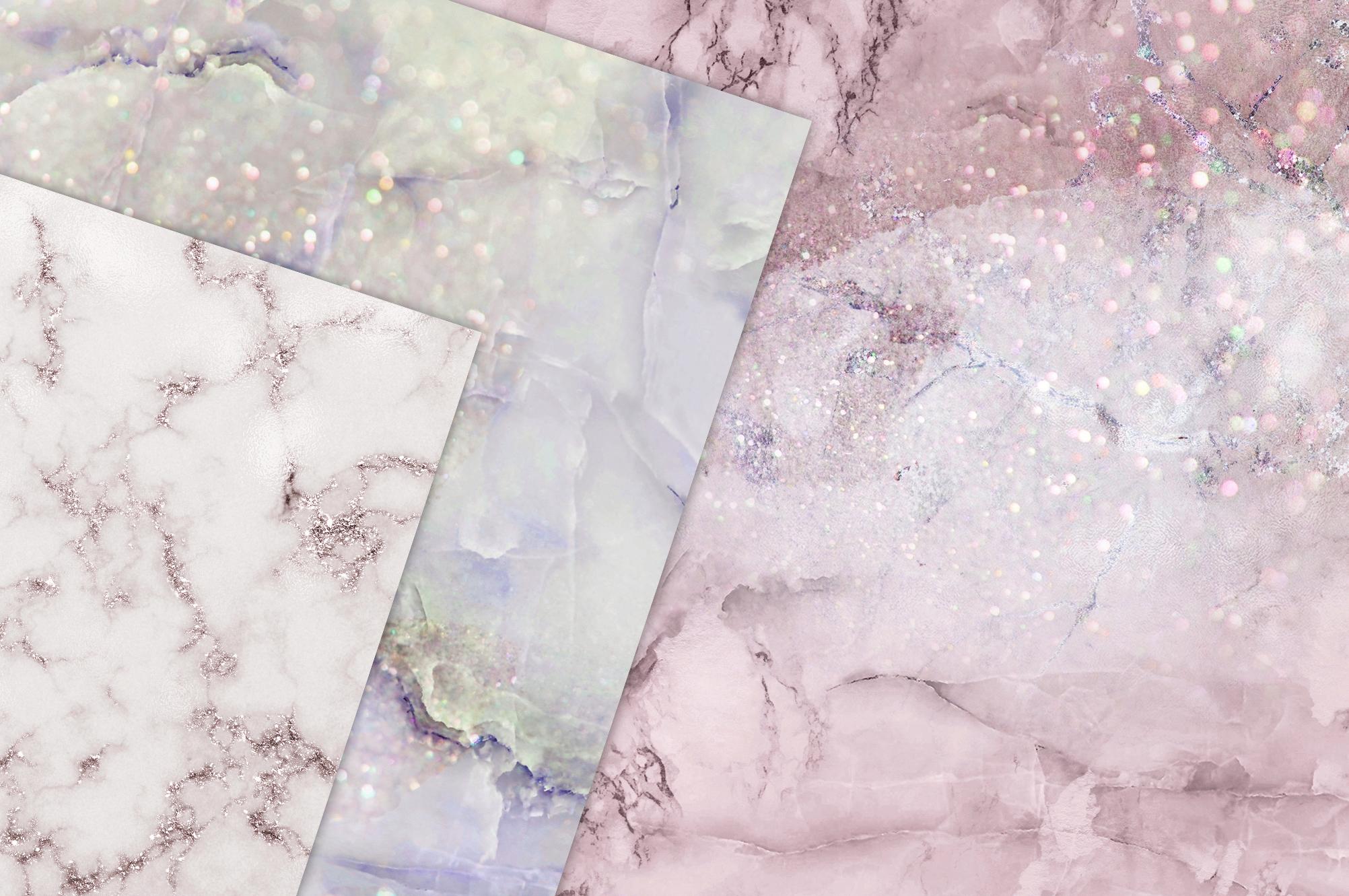 Rose Marble Digital Paper BUNDLE example image 3