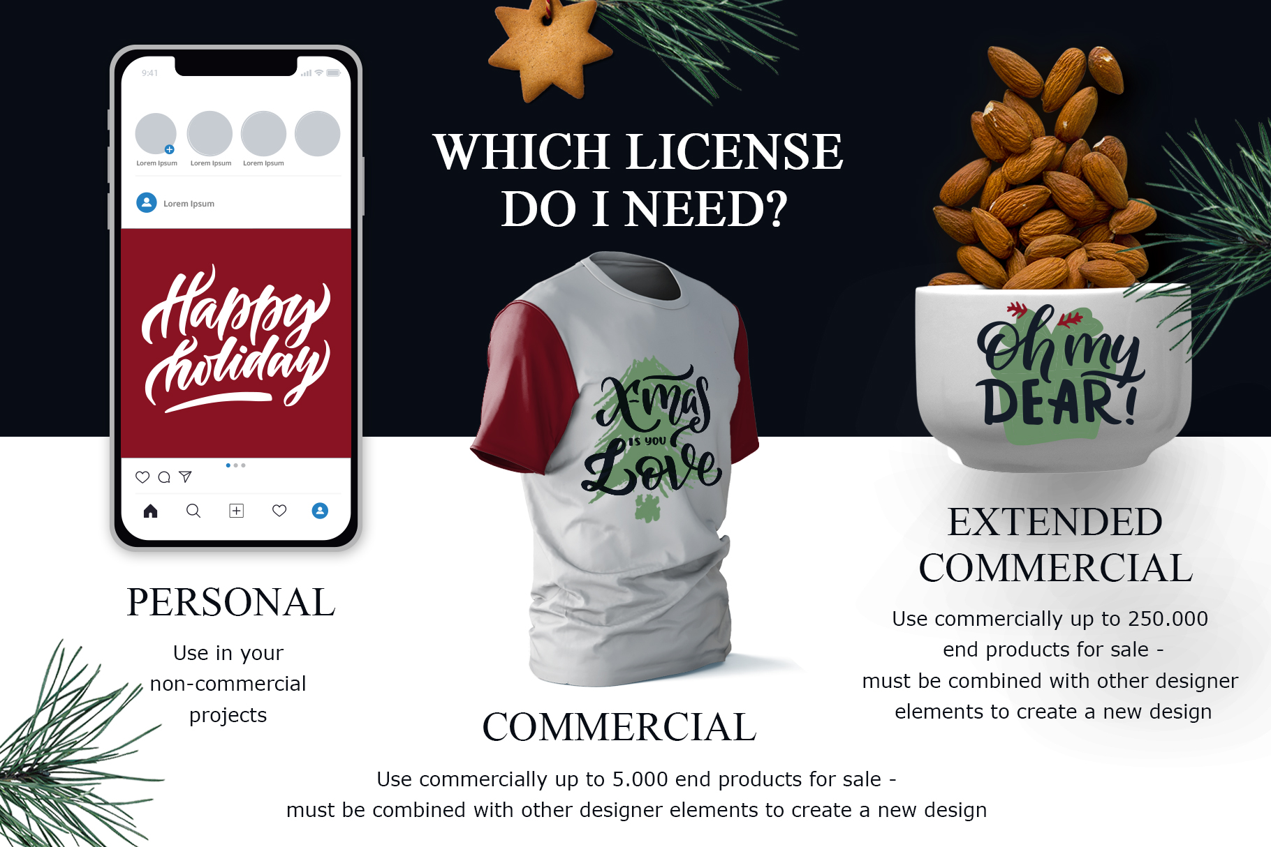 Christmas time lettering pack example image 10