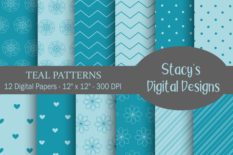 Digital Paper Bundle - 72 Digital Papers, patterns example image 2