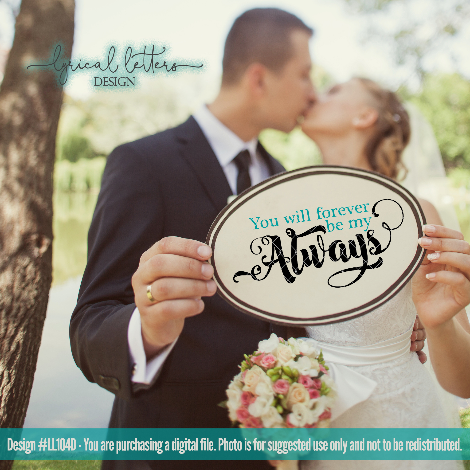Love and Wedding Bundle of 5 SVG DXF Cut Files LL104 example image 5