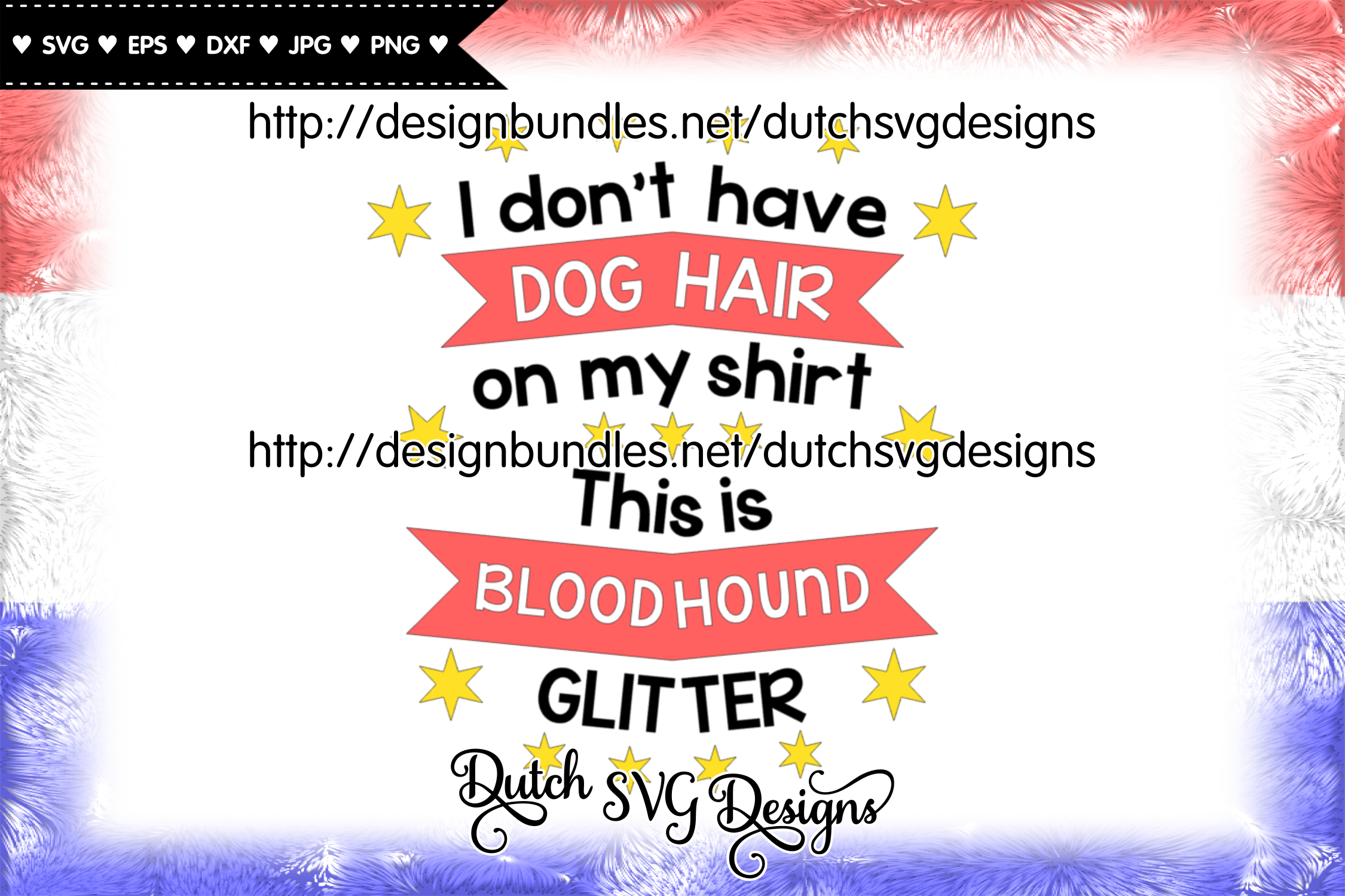 Text cutting file Dog Hair Bloodhound, bloodhound svg example image 2