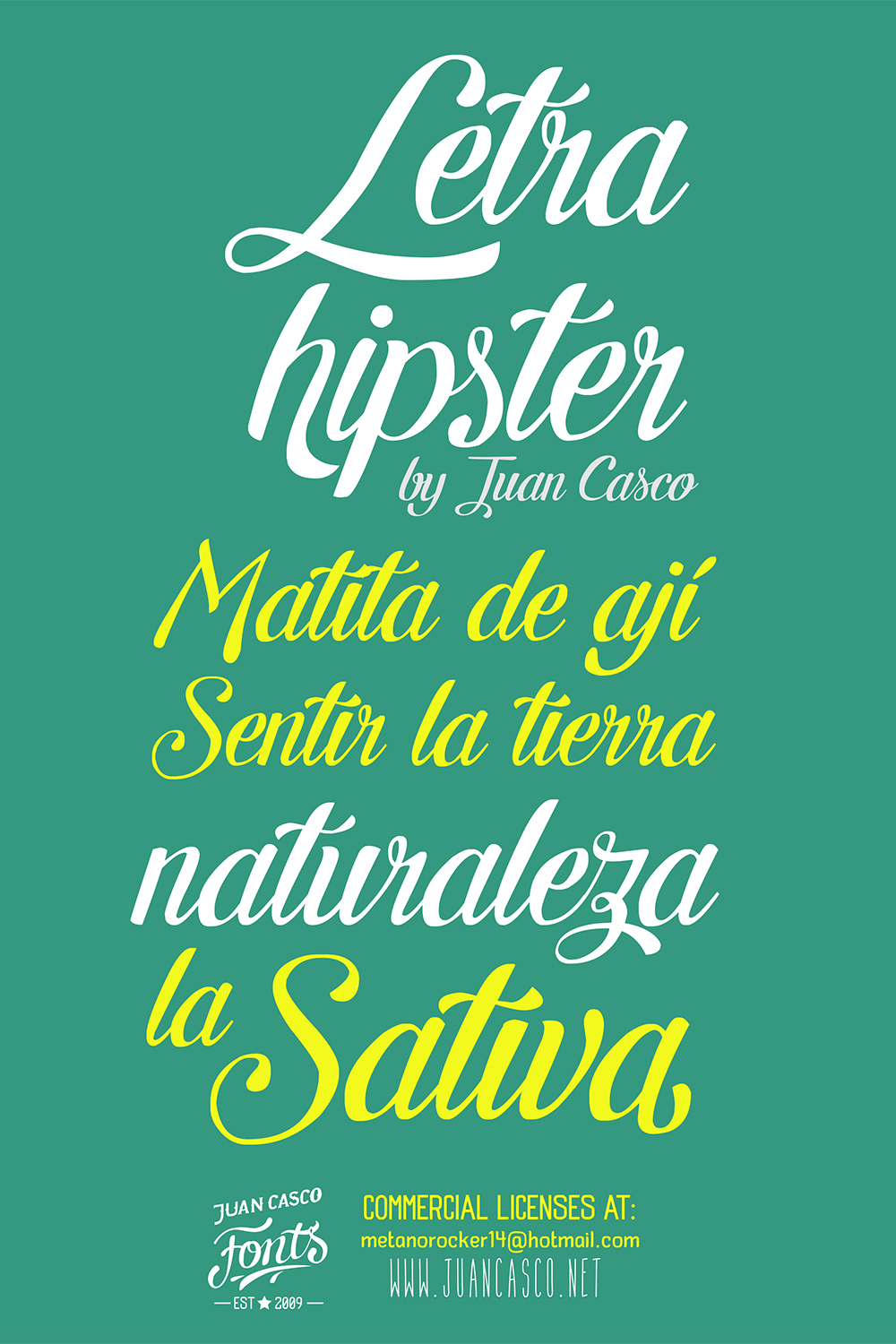 Letra Hipster example image 3