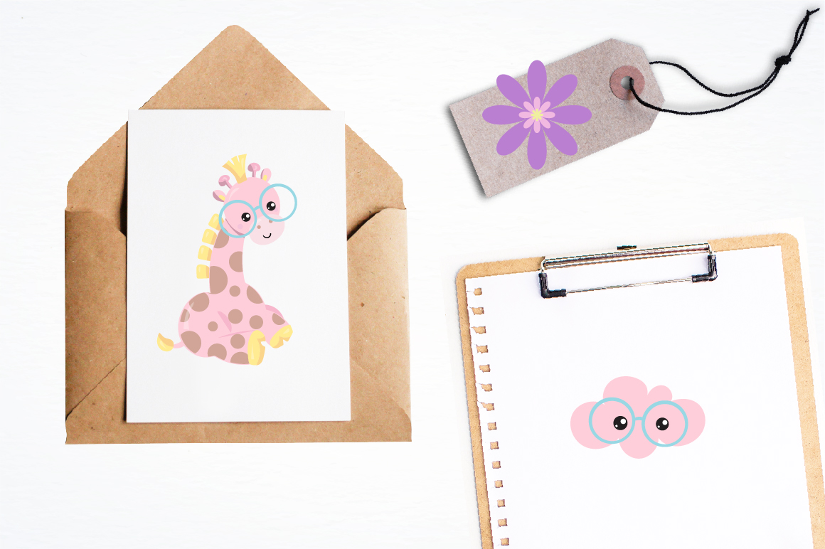 Spring Giraffe graphics and illustrations example image 4
