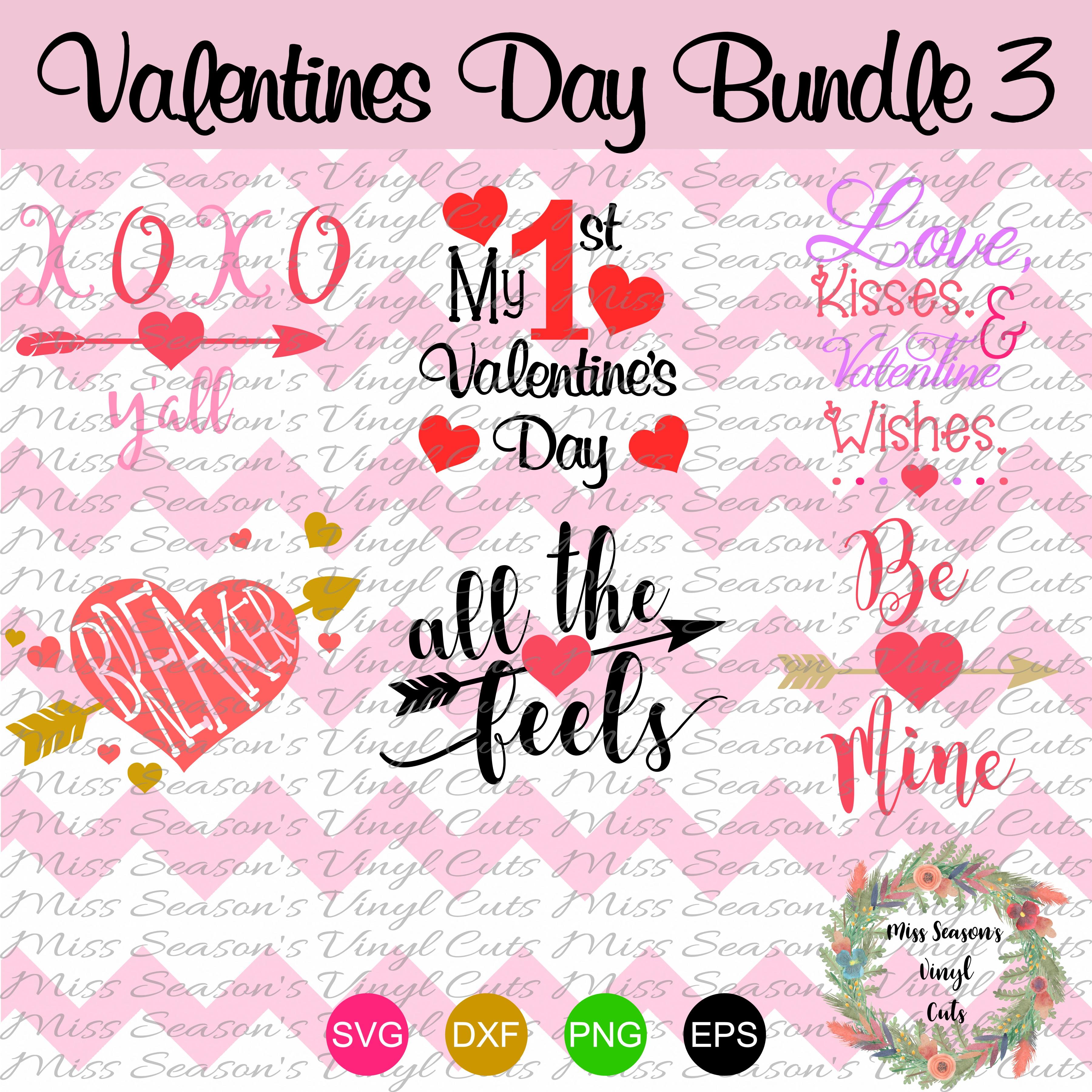 Valentines Day Bundle 6 designs SVG  example image 1