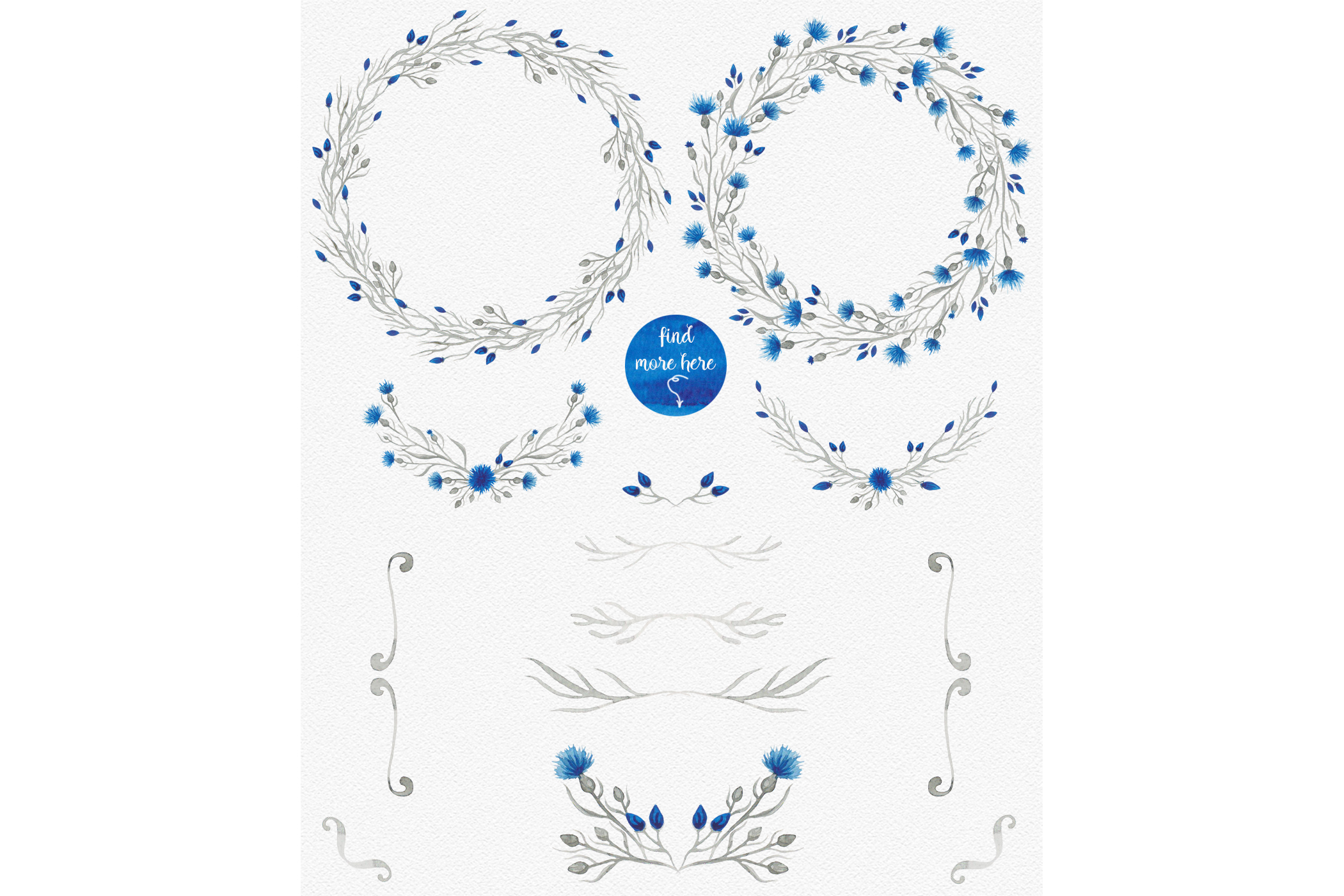 Blue flower _Wedding collection_ example image 2
