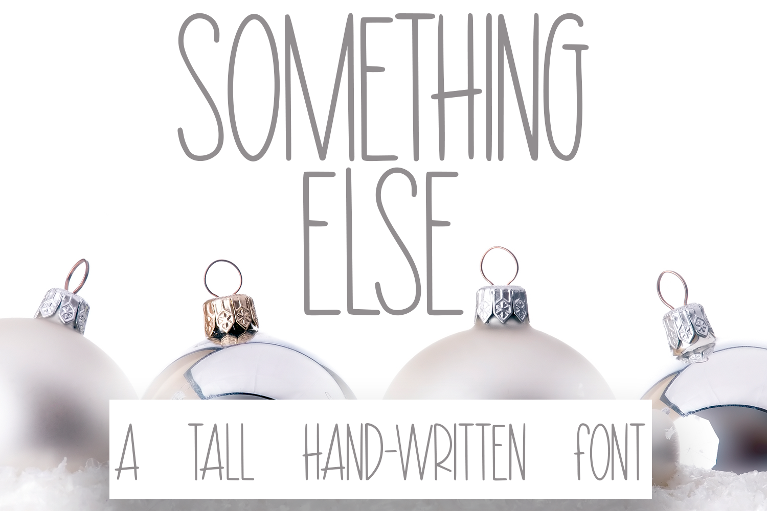 Something Else - A Hand-Written Tall Font example image 1