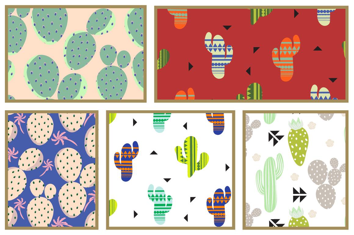 Cacti Seamless Patterns example image 5