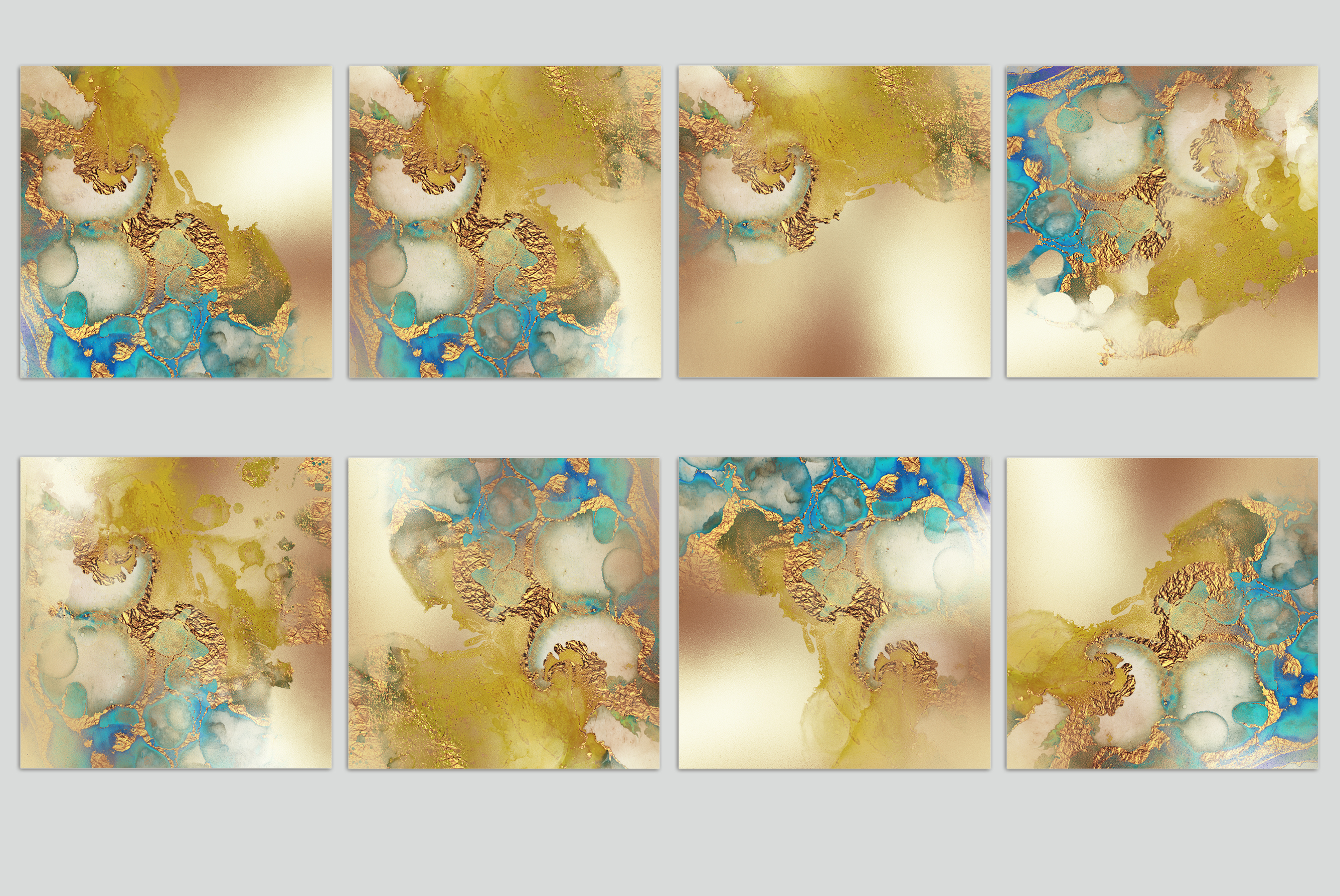 Watercolor Gold Textures example image 2