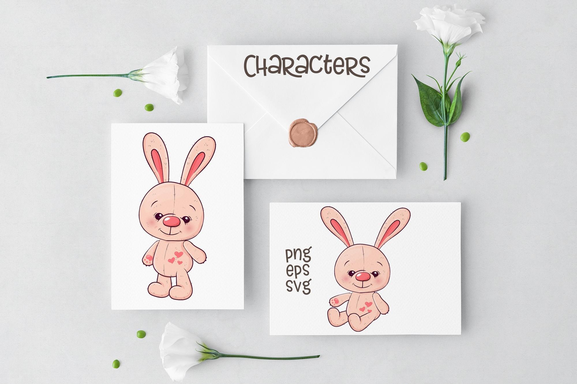 Cute Rabbit - vector clip art example image 3