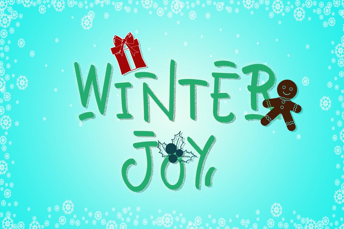 Winter Joy - Joyfully Font example image 7