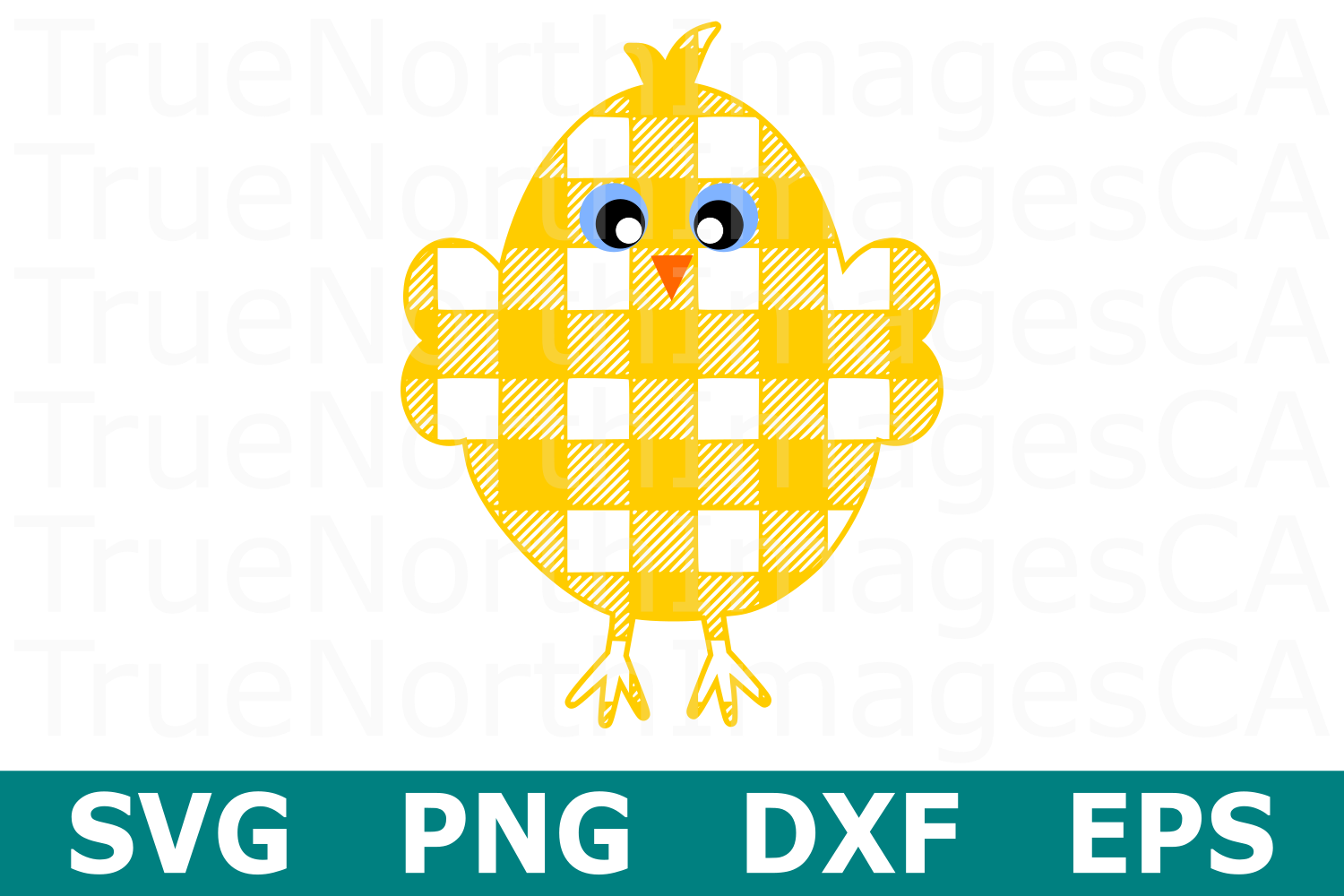 Plaid Chick - An Easter SVG Cut File example image 1