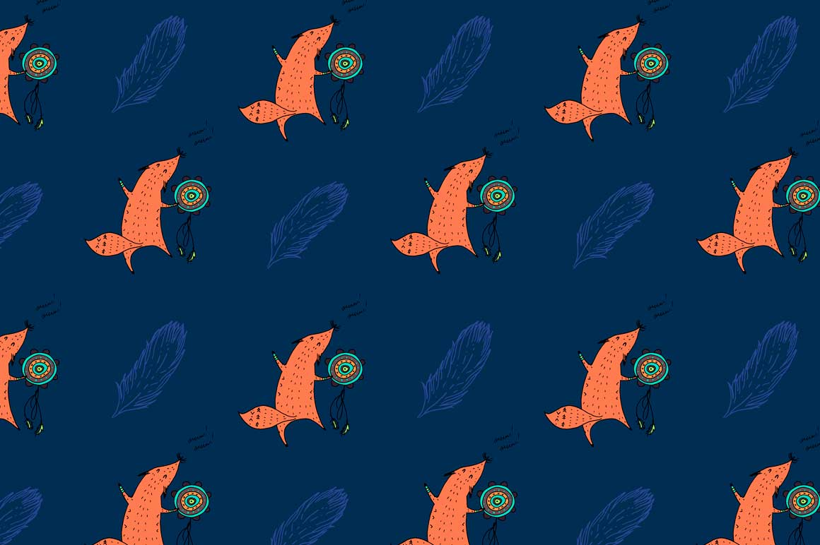 Fox personages and patterns example image 10