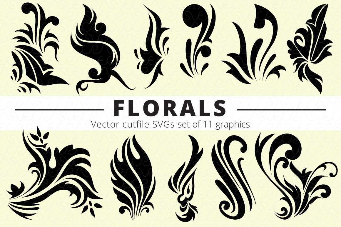 SVG Florals Cutfiles Bundle Pack of 270 vector graphic shape example image 15