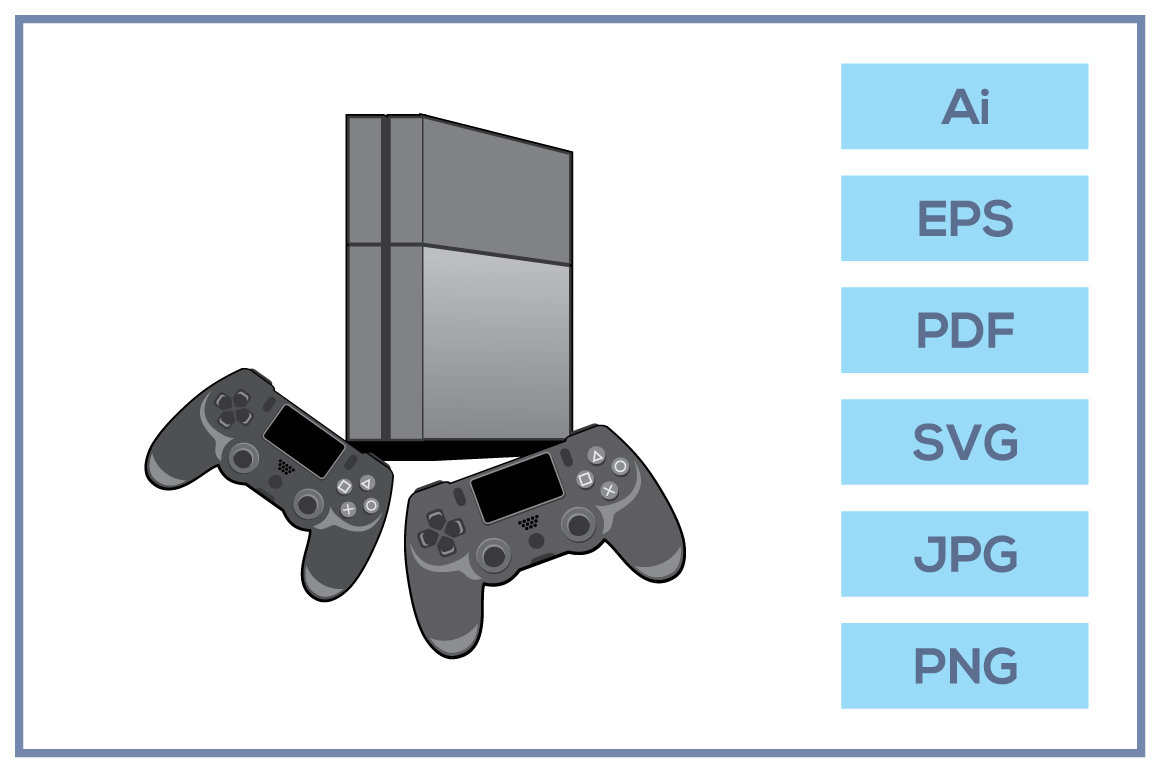 Vector of Play station 4 game console design example image 1
