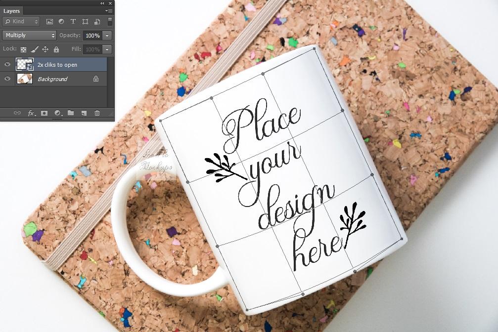 Mug mockup modern flatlay sublimation 11oz cup mock up example image 2