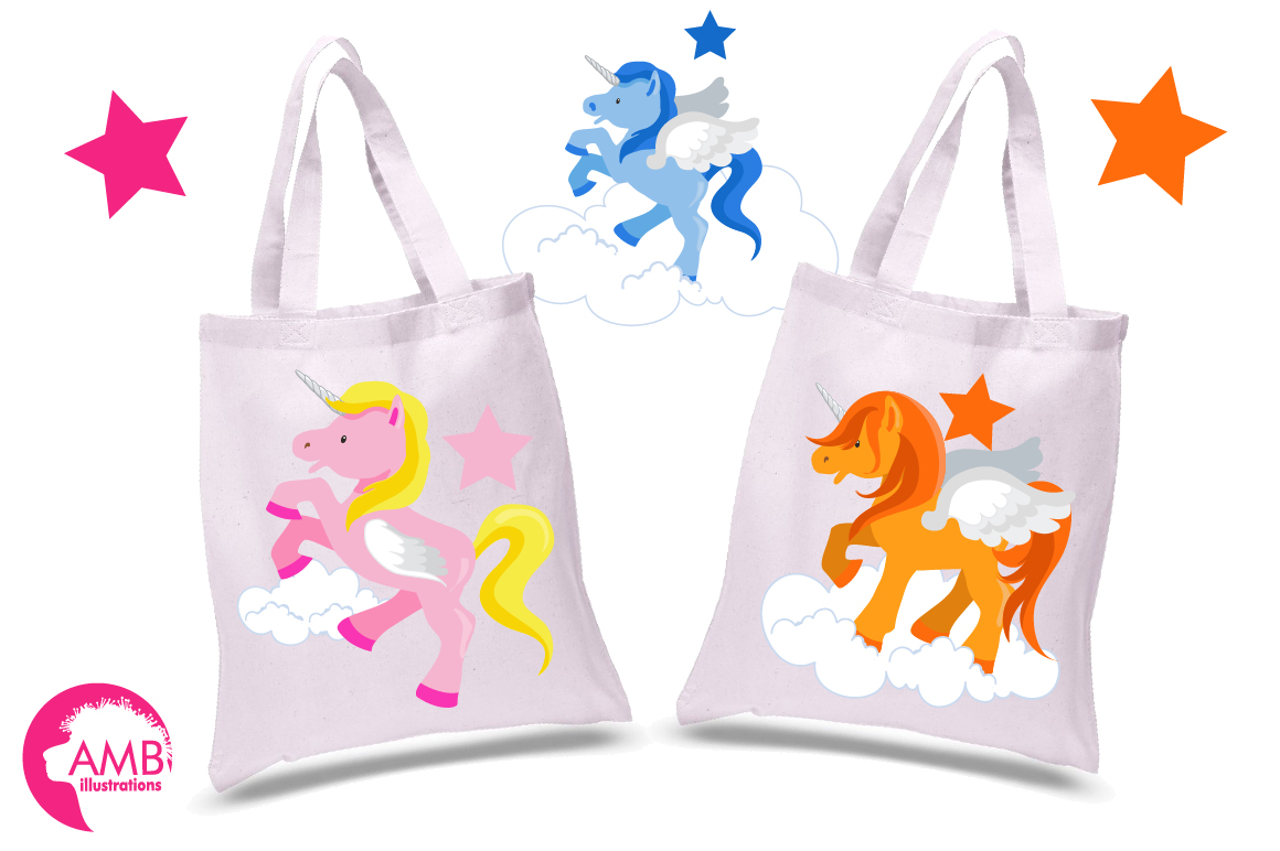 Magical Unicorns clipart, graphics and illustrations AMB-160 example image 2