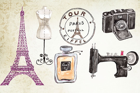Paris fashion clipart example image 3