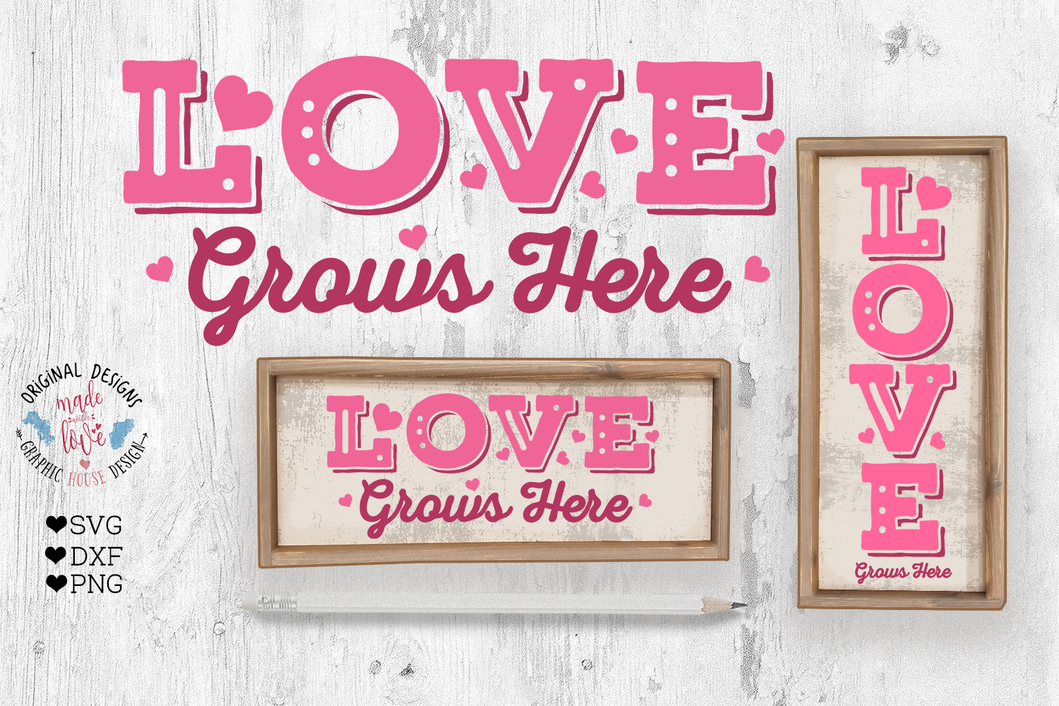 Love Valentines Porch Sign Cut File example image 1