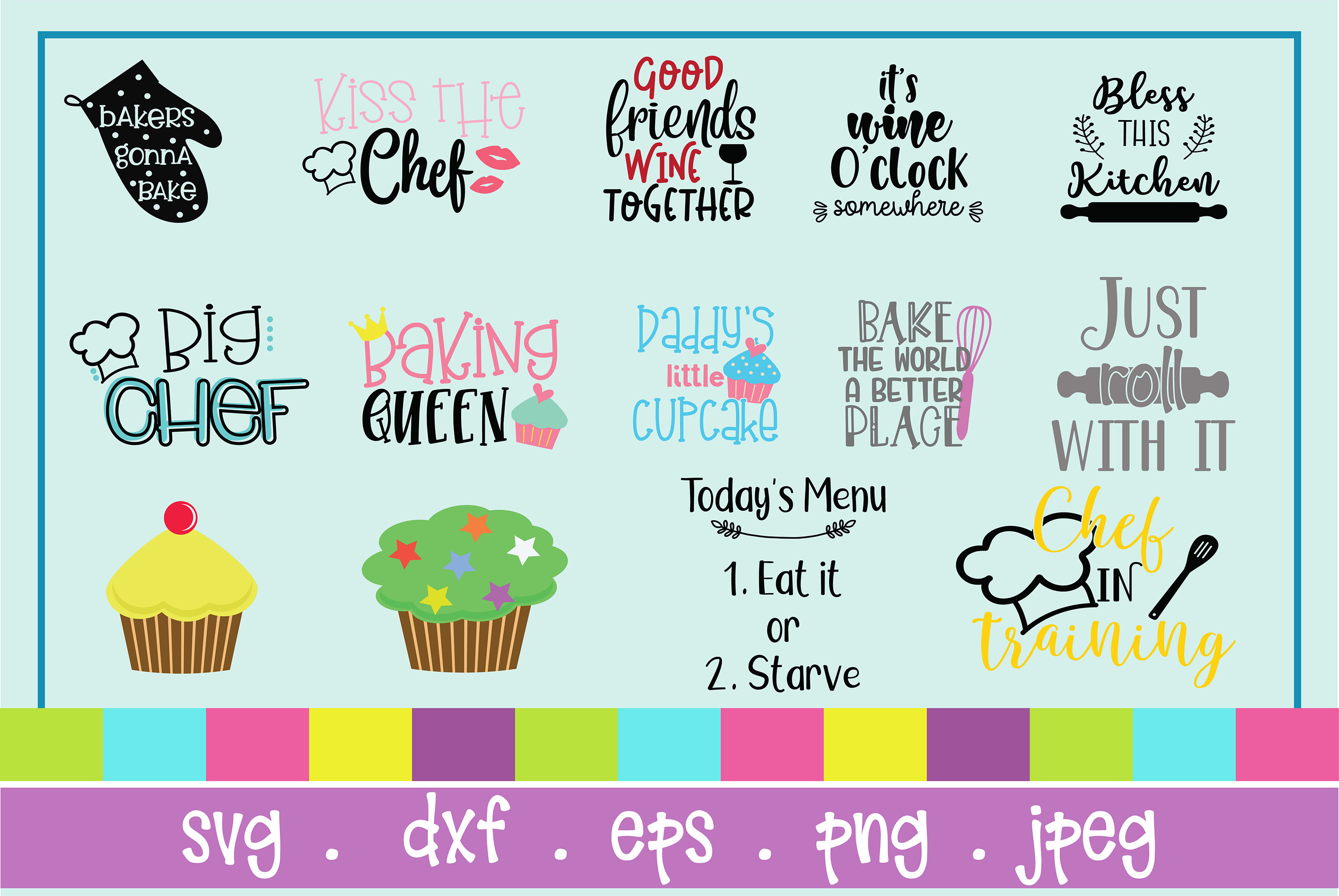 The Huge SVG Bundle Vol 2, 500 Cutting files, SVG, DXF,PNG example image 7