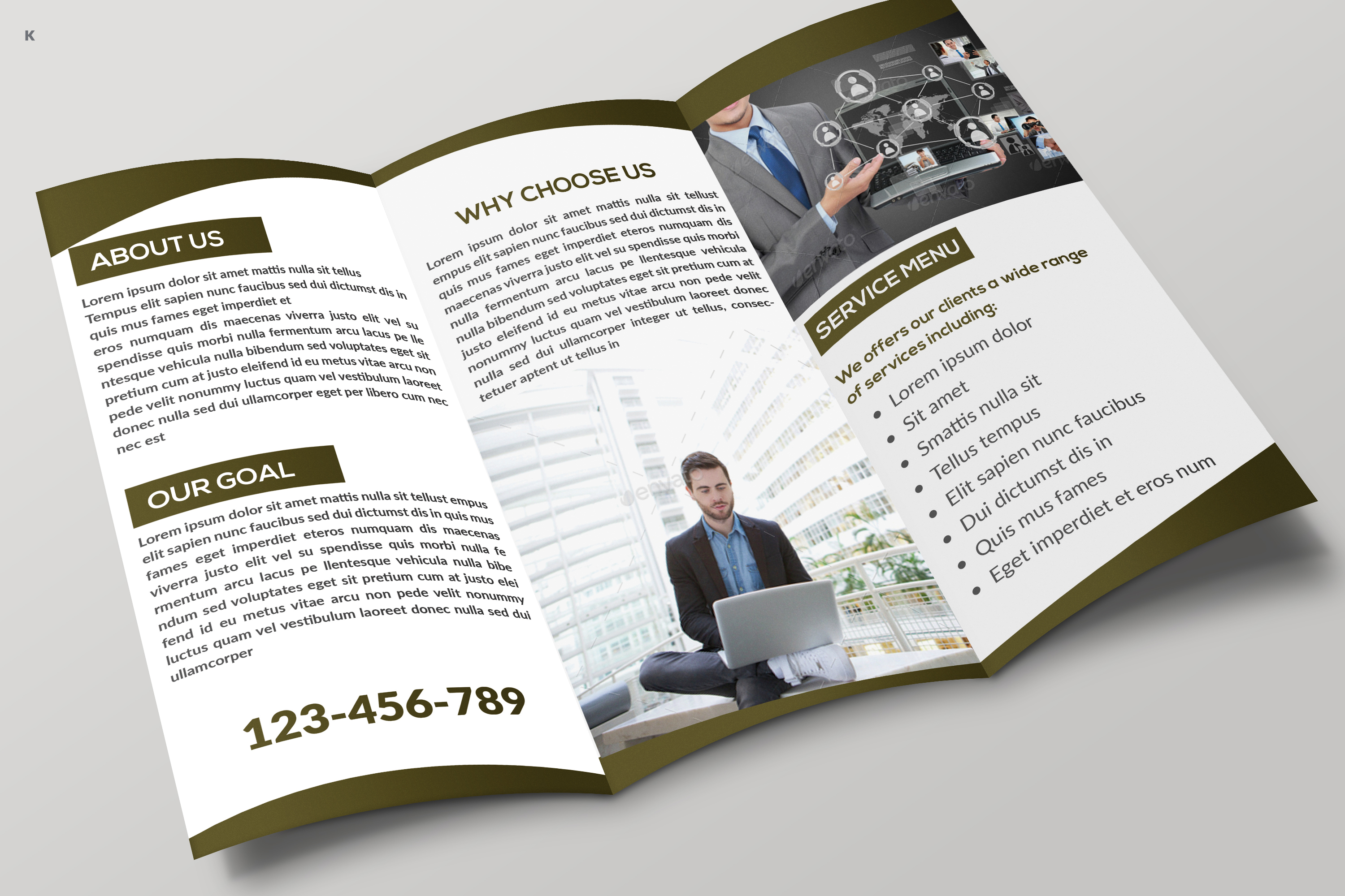 Business Trifold example image 5