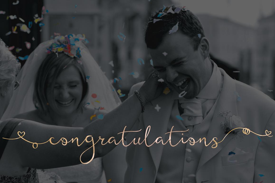 Featherly Bold Font - wedding font example image 4