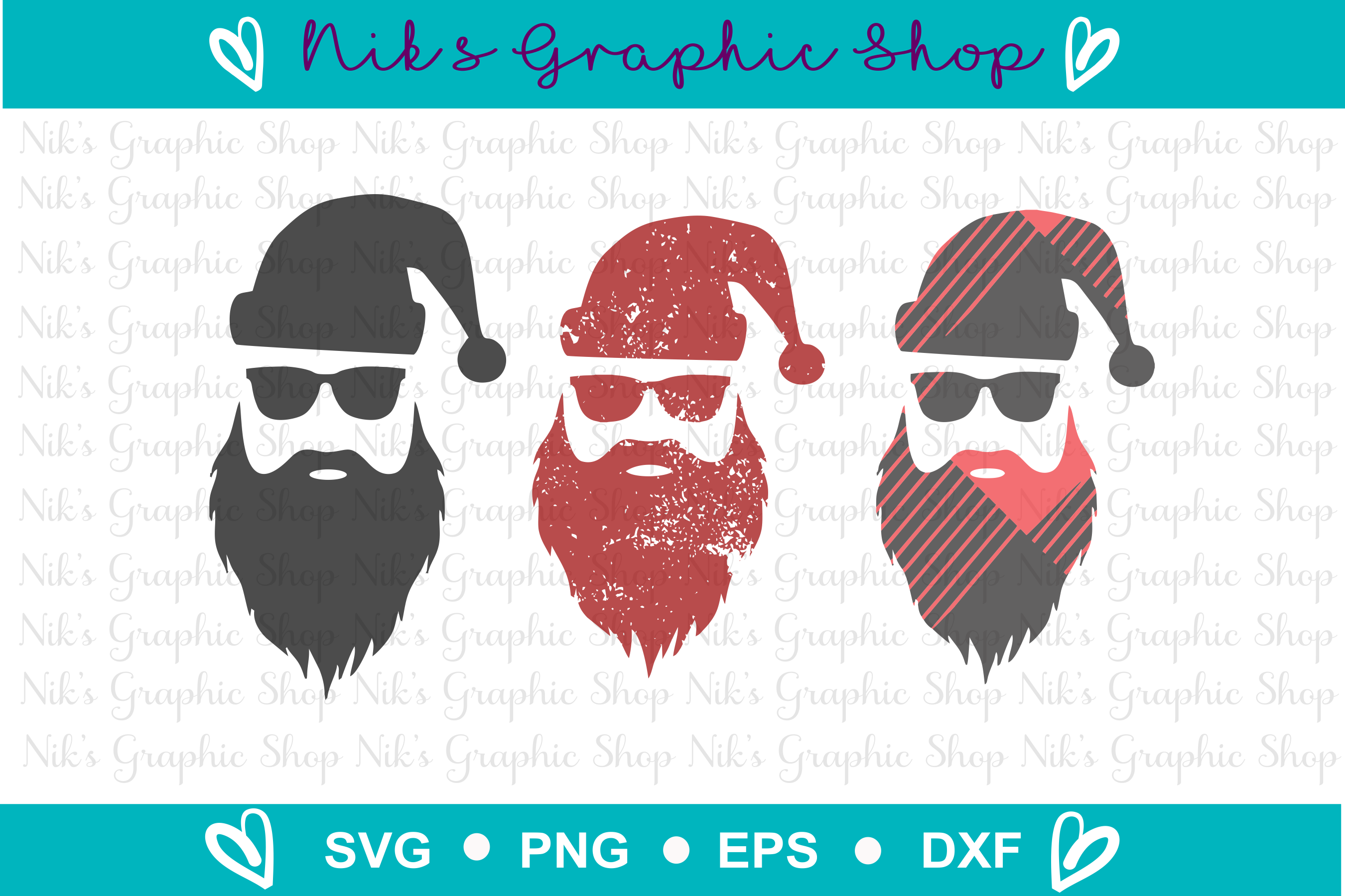 Hipster Santa Svg, Buffalo Plaid Svg, Santa Svg Bundle example image 2