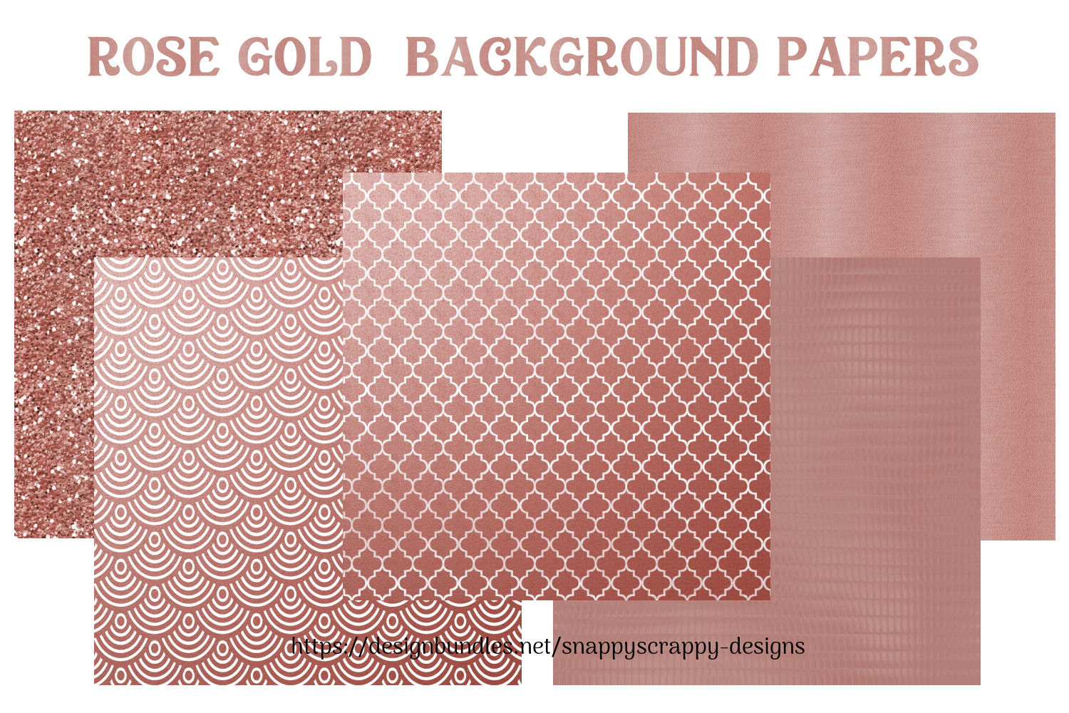 Rose Gold Background Papers example image 3