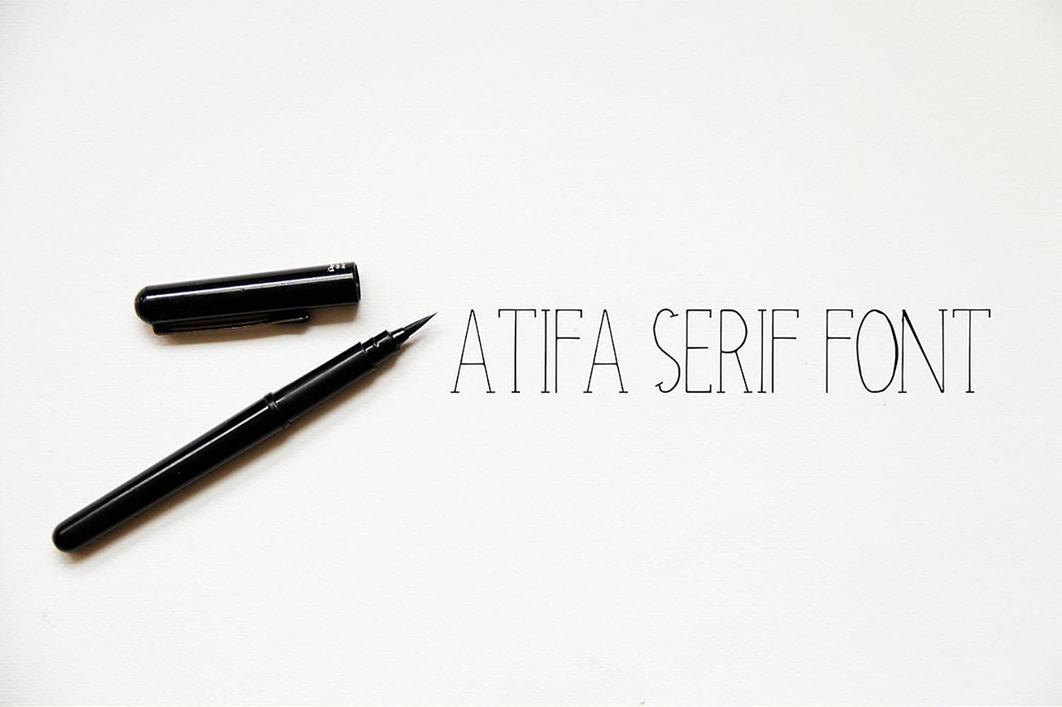 Atifa Serif Font example image 1