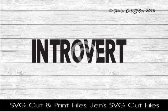 Introvert SVG Cut File example image 1