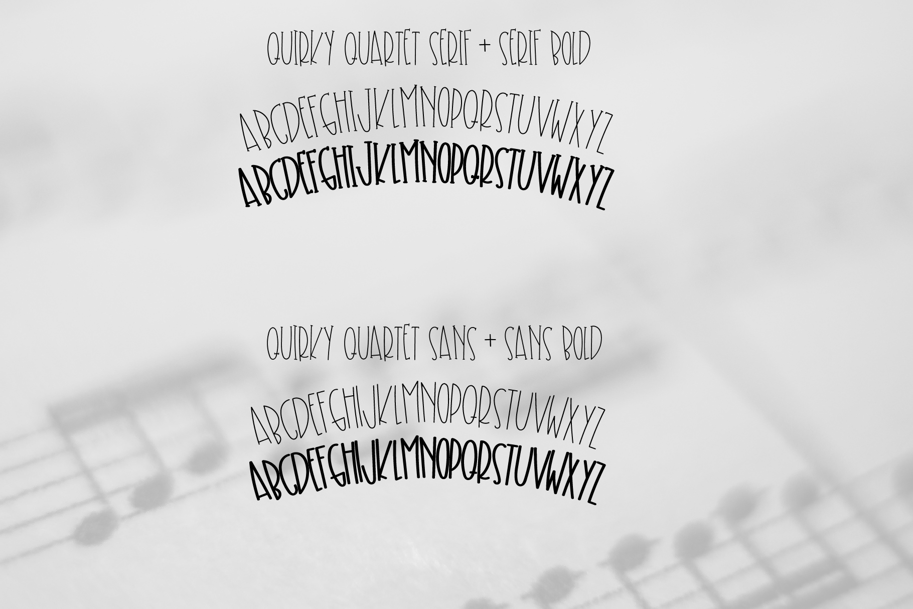 Quirky Quartet Font Collection example image 4