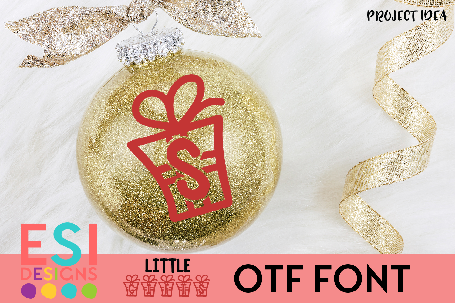Little Gifts Christmas Font example image 4