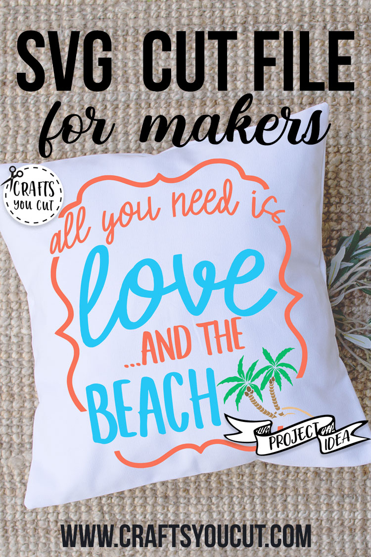 All You Need Is Love And The Beach - A Vacation SVG Cut File example image 3
